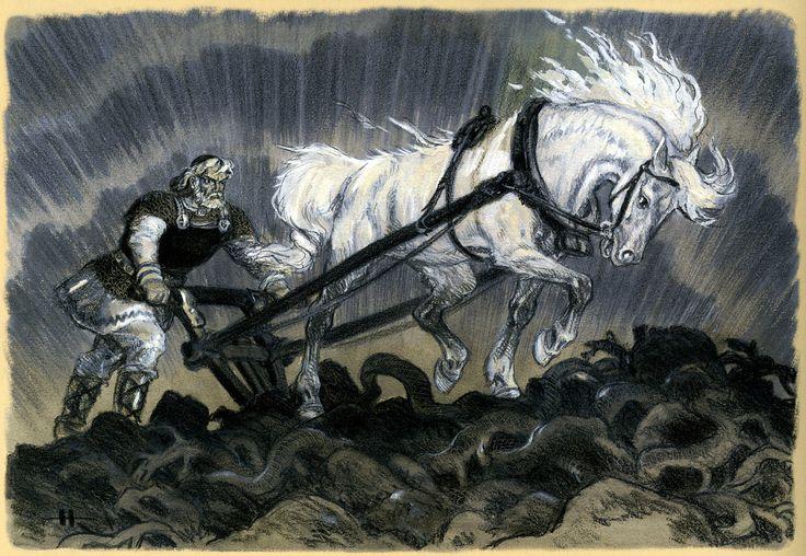 Illustarion from Kalevala made by Nicolai Kochergin