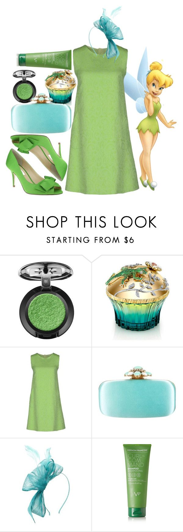 """""""Tinkerbell"""" by andy-likes-disney ❤ liked on Polyvore featuring House of Sillage, Oscar de la Renta, Scala, Vernon François and Nina"""