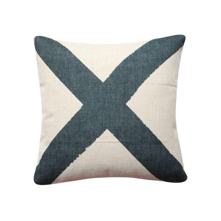 "Large Cross Pillow Cover, 18""x 18"" Decorative Pillow, Black Cushion, Large Cross Cushion Minimalist Cushion 284 by BeadandReel on Etsy https://www.etsy.com/listing/278176784/large-cross-pillow-cover-18x-18"