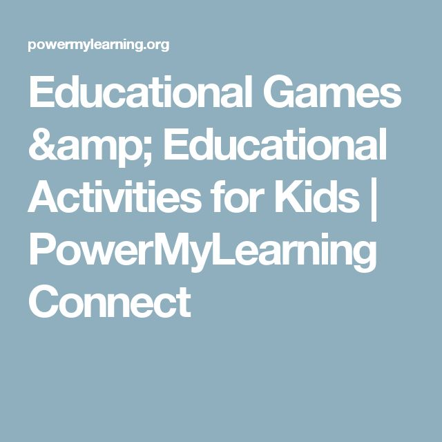Educational Games & Educational Activities for Kids | PowerMyLearning Connect
