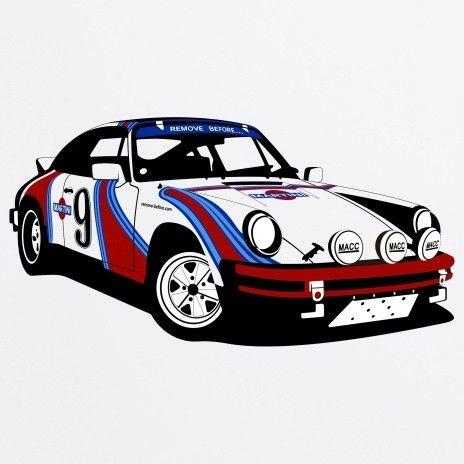 Porsche 911 Rally Organic T Shirt