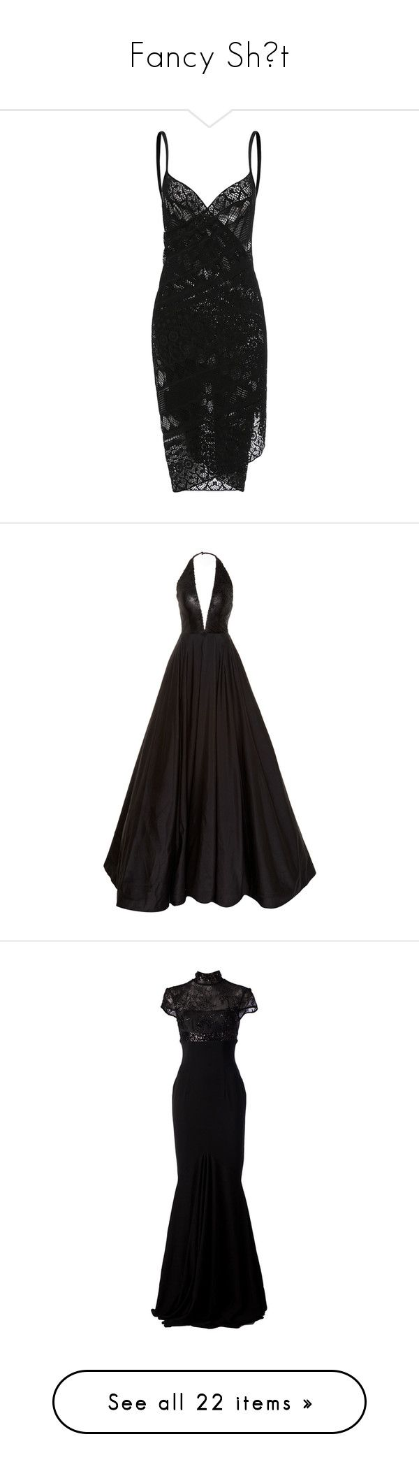 """Fancy Shıt"" by unholy-soul ❤ liked on Polyvore featuring dresses, black, gowns, long dresses, romona keveza, vestido, halter evening dress, halter-neck dresses, halter neckline dress and long halter dress"