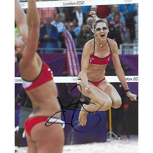 Kerri Walsh Jennings, USA Olympic, Volleyball Player, Signed, Autographed, 8x10 Photo, a COA with the Proof Photo of Kerri Signing Will Be Included'