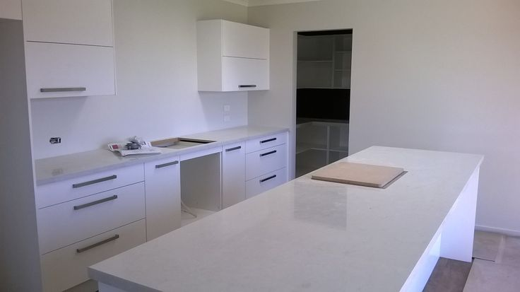 Kitchen cabinetry installed