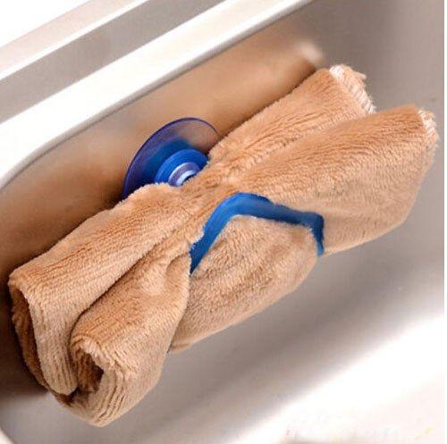 Køb karklud holder til vask i kraftig plast med sugekop.