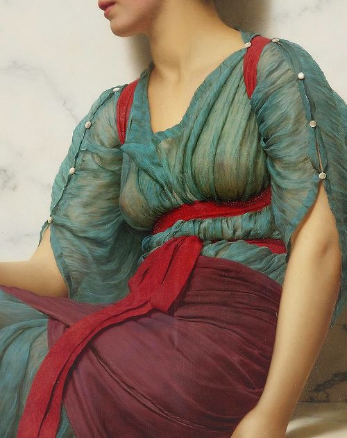 John William Godward (1861-1922) The Love Letter (Detail) Oil on canvas, 1907