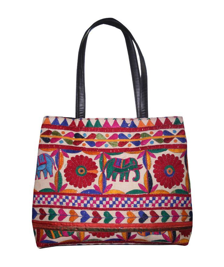 Indian Banjara Bag Cotton Embroidered Bag Tote Shoulder Bag Cross Body Women Bag #Handmade #BeachBagEveningBagShoulderBag