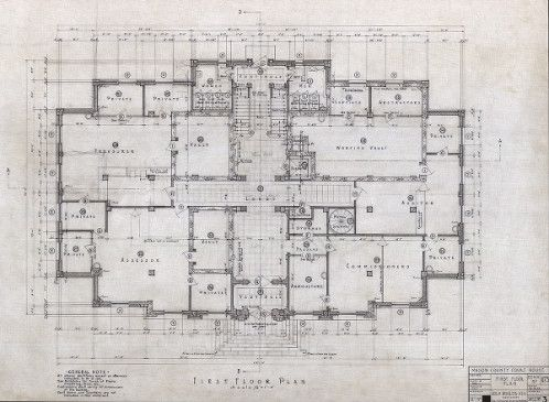 Mason County Courthouse (Shelton, Wash.), first floor plan