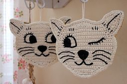 Ravelry: cats crochet potholder