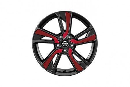 "Nissan New Juke Red (NAH) Laminate Inserts for Alloy 18"" (one wheel) - KE4SP1K30R"