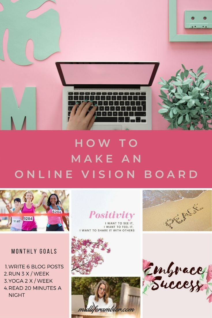 How To Make A Digital Vision Board Online With Free Template Online Vision Board Digital Vision Board Vision Board Template