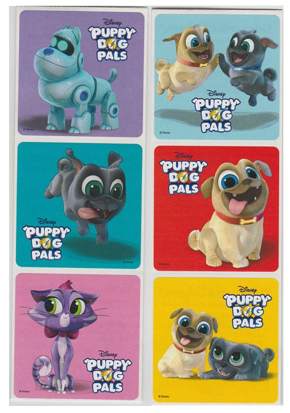 25 Puppy Dog Pals Stickers 2 5 X 2 5 Etsy Dogs And Puppies Puppy Birthday Parties Personalized Stickers