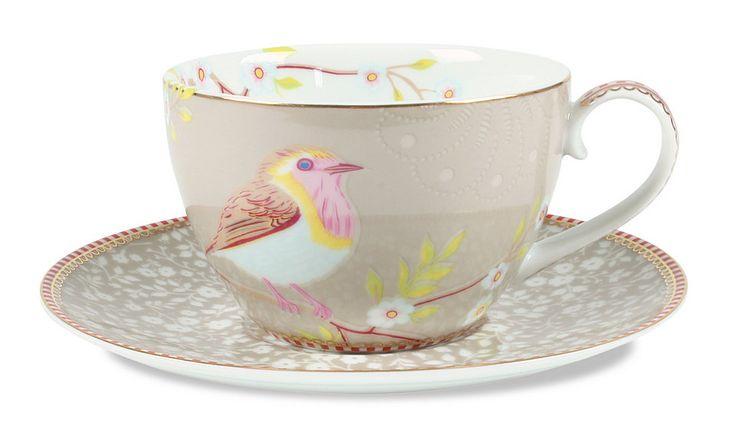Kaffeetasse mit Untertasse »Early Bird« (12er-Set), PiP Studio für 83,70€. Kaffeetasse & Untertasse »Early Bird« von PiP Studio, Aus Porzellan bei OTTO