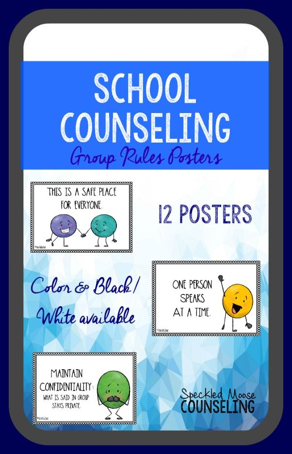 These 12 group counseling posters are a great reminder of the rules. The 12 expectations are worded in different ways to accommodate various developmental levels within the elementary school setting. They highlight confidentiality, appropriate behavior, and social skills. They serve as an eye-catching visual, as well as a gentle reminder for the guidelines for small group counseling. 2 versions - colored and black and white/ink friendly