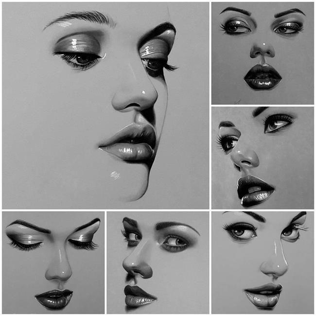 Iraklı Ressam Husam Wleed'ten 20+ Parlak ve Gerçekçi Kadın Portresi Sanatlı Bi Blog 26
