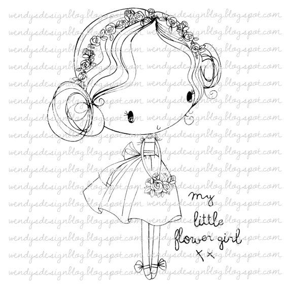 My Little Flower Girl by alldressedupstamps on Etsy, £2.00