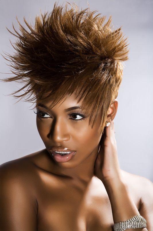 49 best black women short spike hairstyles images on ...