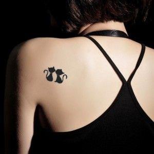 Black Kiss Cat Girls Fashion Tattoo Sticker
