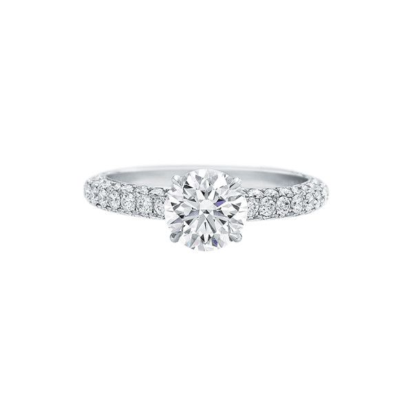 Attraction by Harry Winston, Diamond Engagement Ring ❤ liked on Polyvore featuring jewelry, rings, diamond jewellery, diamond engagement rings, diamond jewelry, harry winston jewelry and harry winston rings