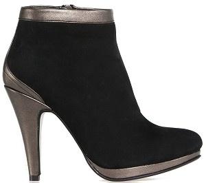 Boot ankle glamour black nubuck bronze