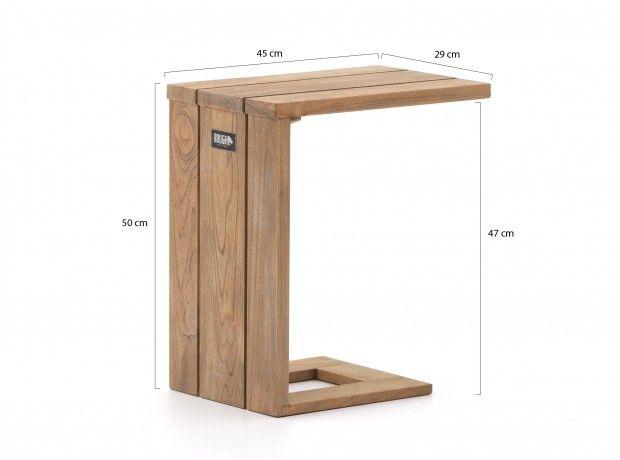 ROUGH-X bijzet tuintafel voor loungebank 45x29x51cm