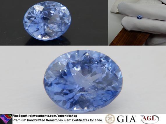 1 57 Ct Gia Vivid Cornflower Blue Sapphire Premium Etsy In 2020 Cornflower Blue Blue Sapphire Cornflower