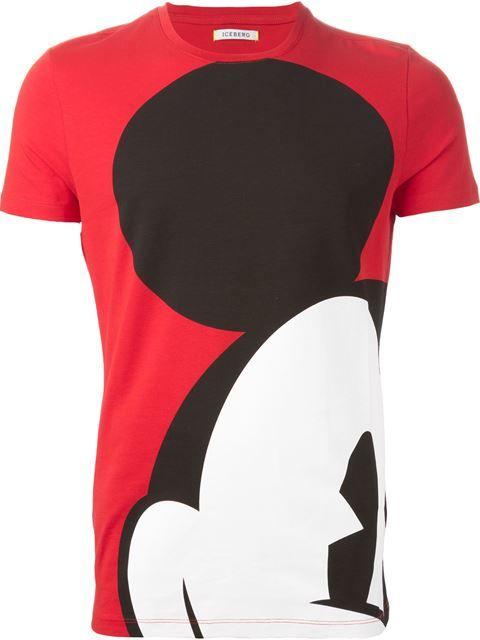 Iceberg Mickey Mouse Print T-shirt - Eraldo - Farfetch.com