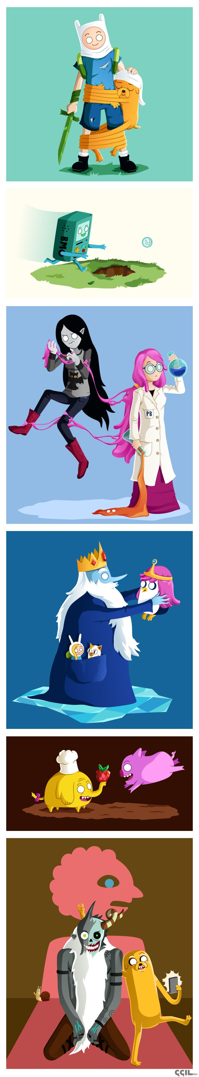 Adventure Time by cecile-appert