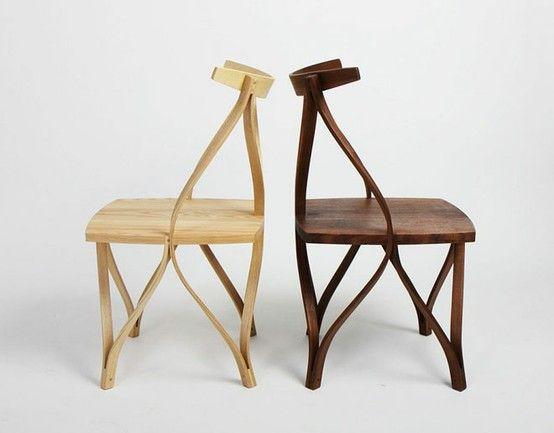 Korean designer Dohoon Kim has created a series of steam bentwood chairs via miss moss