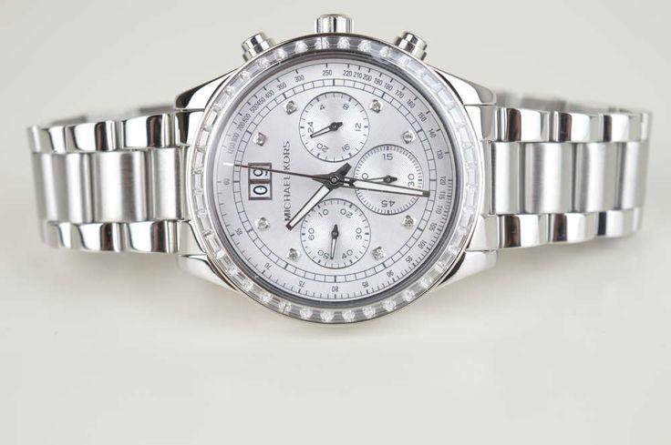 Michael Kors Damenuhr Uhr MK6186 Silber mit Steinen UVP: 399