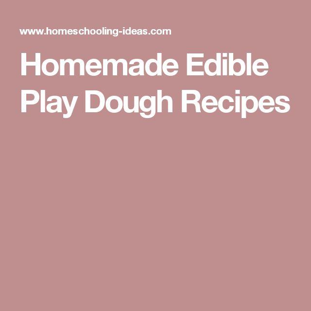 Homemade Edible Play Dough Recipes