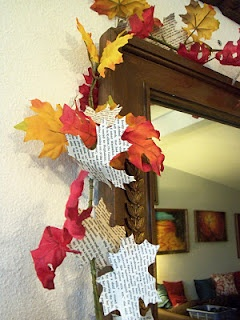 fall classroom decorations--doing this around whiteboard!