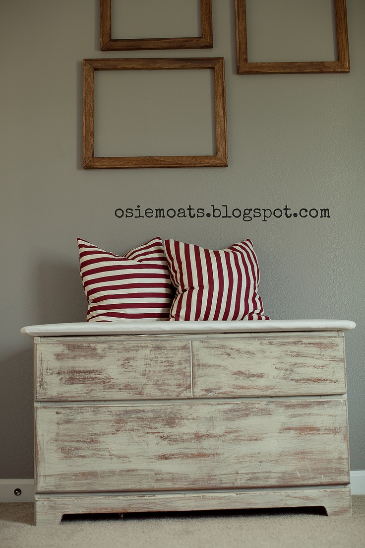 TOY BOX MAKEOVER | toy room | DIY | nautical    www.osiemoats.blogspot.com    http://www.facebook.com/#!/pages/Osie-Moats/360599210662568