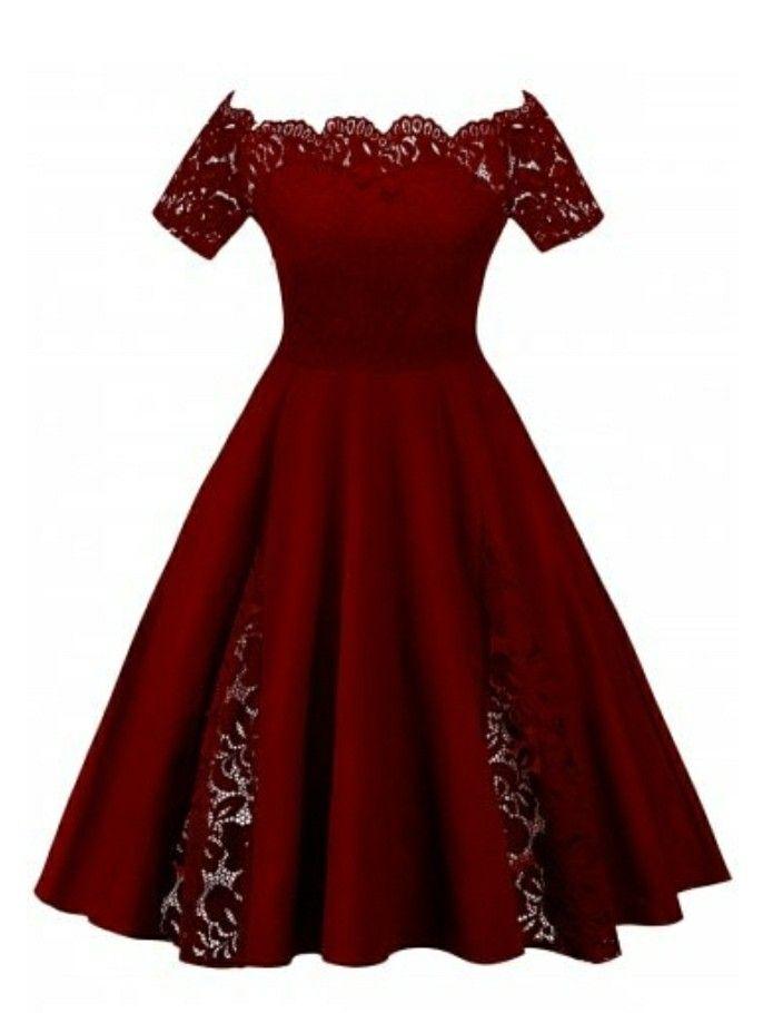 Vestido Color Vino En 2019 Vestidos Color Vino Vestidos