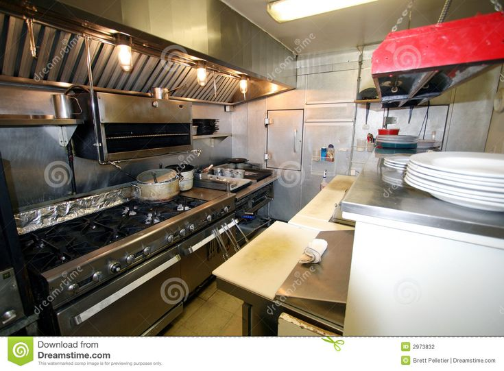 Small Restaurant Kitchen | Stock Photography: Small Kitchen In A Restaurant