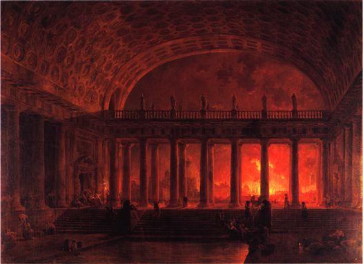 L'incendie de Rome - Hubert Robert - 1785 - Pavlovsk, Musée