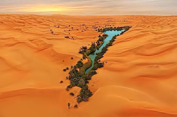The Ubari Oasis in Lybia