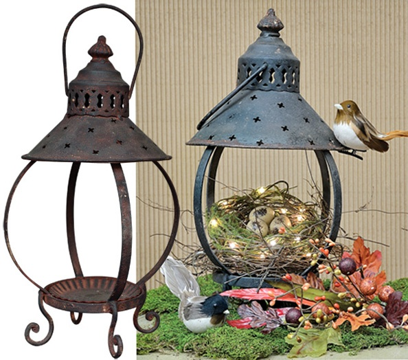 Primitive Rustic Lantern   Kruenpeeper Creek Country Gifts