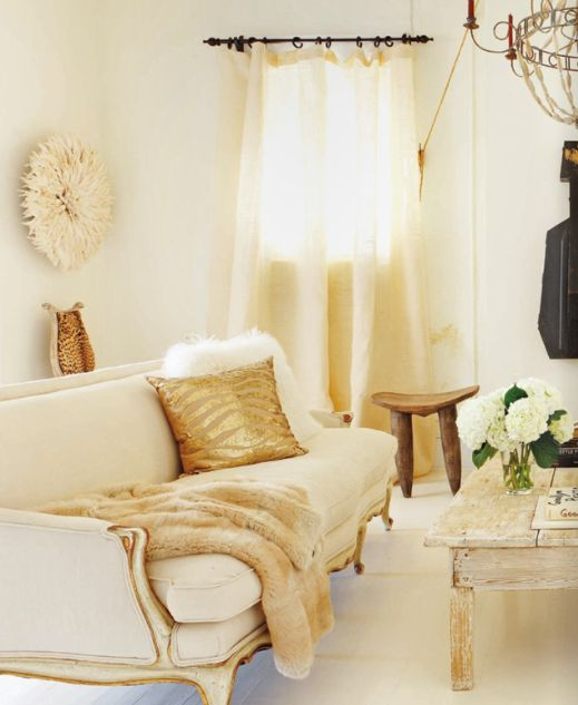 Everything Fabulous: Decor Inspiration in Gold and Cream