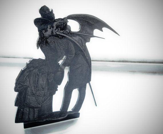 Victorian Cake Topper, Gothic Cake Topper, Max Ernst Inspired, Gothic Wedding  Cake Topper , Halloween Cake Topper, Samhain, Handfasting