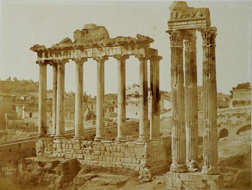 Comte Frédéric Flachéron Roma. Tempio di Saturno e Tempio di Giove 1851