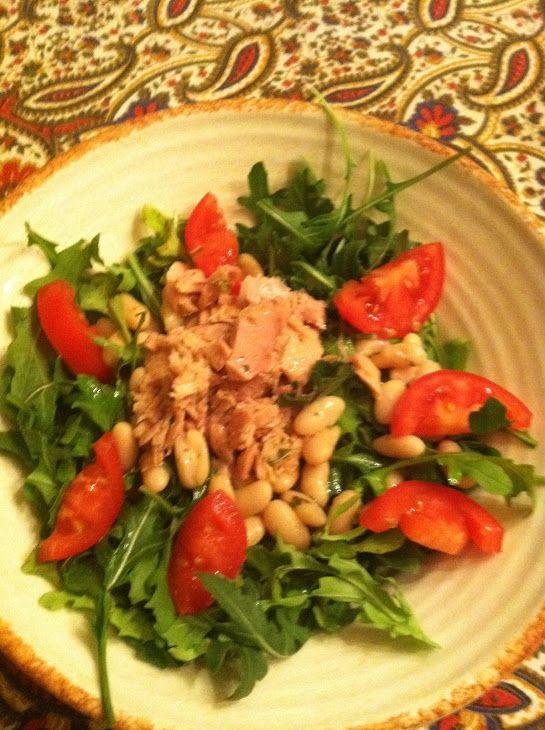 Grilled Tuna Over Arugula With Lemon Vinaigrette Recipe — Dishmaps