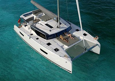 Brand new Fountaine Pajot 47 Quintet sailing catamaran for charter in Croatia.