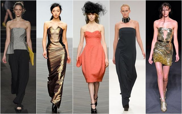 Off the Shoulders. Shoulder baring dresses and tops showed off dainty shoulders and skin for fall.