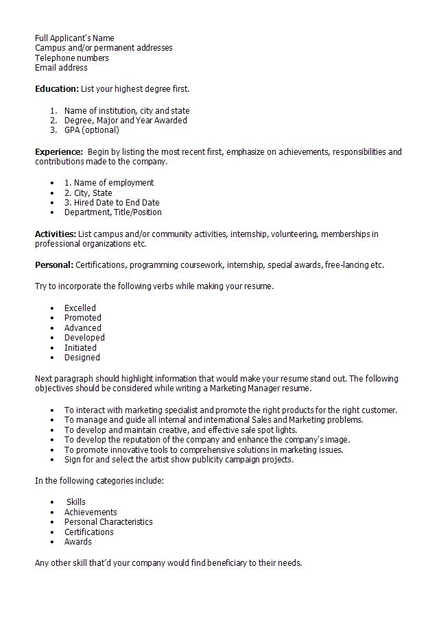 marketing director resume cv marketing officer market management marketing manager resume resume