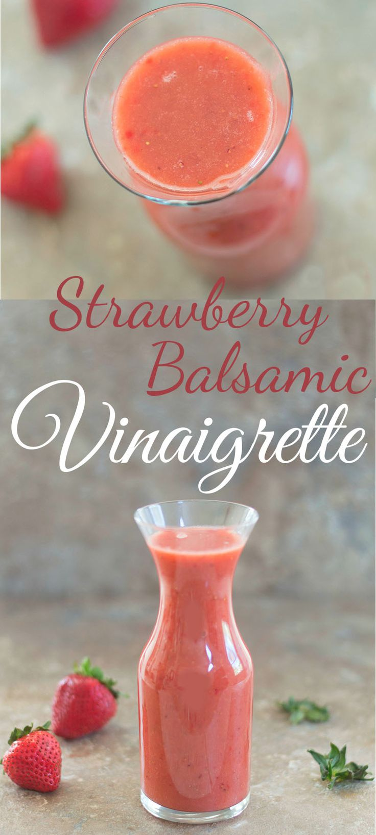 Easy strawberry balsamic vinaigrette made using only 4 ingredients. Takes less than 10 minutes to make and perfect healthy dressing for lunch or dinner salad recipe