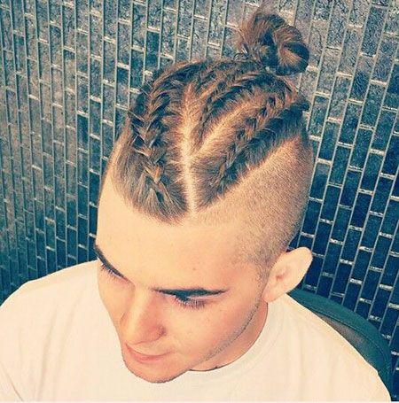 Mohawk-Haar, Zöpfe, Jungen, unter, glatt, Männer, Friseursalon
