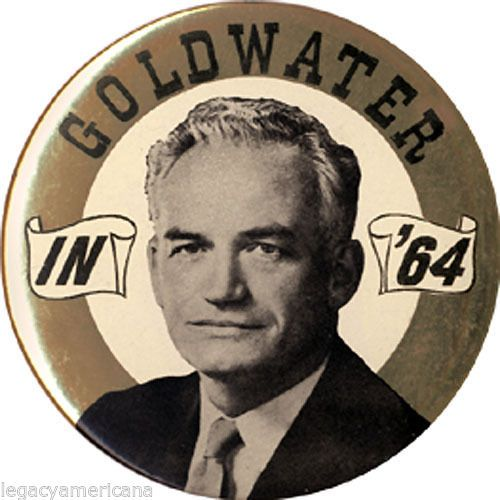 Large 1964 Barry GOLDWATER IN '64 Campaign Button (1761)