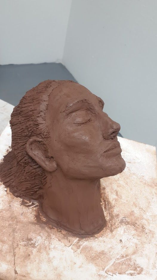 clay woman sculpture