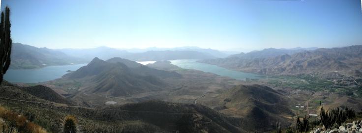 Embalse La Paloma. Tomada desde el Cerro Manchado entre Monte Patria y El Panul camino a Tulahuén. Foto de Leonardo Martínez V.